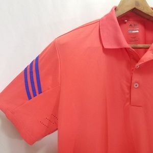 ADIDAS  Pure Motion Cool Max LG Golf Shirt Coral